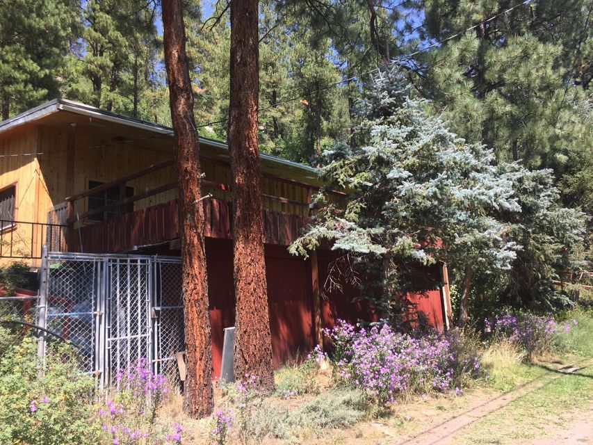 Time to Own Your Own Quiet Retreat In Jemez Springs close to Fenton Lake on 2.09 Acres. This single wide has been added on with Extra Space. An Added Garage and storage galore plus a storage/cellar. Being sold As ISREC AVAILABLE