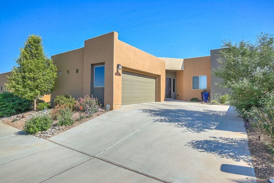 Beautiful Twighlight model home in Mariposa with views in the living room and backyard with a covered patio. Community has lots of amenities including a workout facility, indoor & outdoor pools, neighborhood grill, beautiful parks, miles of trails and views.  Unique open floor plan with  a study/extra bedroom. There's an eat in kitchen that opens up to the family room. Granite counter tops and a glass mossaic backsplash.  Stainless steel appliances. Silver Certified Green. Custom storage cabinets in the garage. Skylights yield lots of natural light. CLEVELAND School District.  Tankless water heater. Prefer Christa Marsh at Old Republic Title