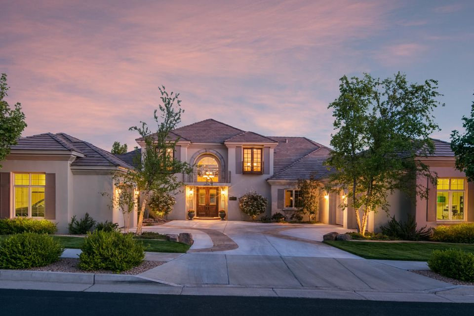 In the Exclusive Golf Course, Gated Community of Sauvignon is this Elegant European Designed Luxury Home! Perfectly Appointed Finishes Throughout! Golf Course Home with Expansive Views of the City and The Gorgeous Sandias. Stunning Travertine, Hardwood Flooring and Carpet Throughout. Gourmet Kitchen with Top of the Line Appliances, Over Looking the Family Room & Green Golf Course View. Spacious Master Retreat on The Main Level has Incredible Views, Spacious Walk In Closets. Master Bath Includes Custom Cabinetry, Jetted Tub and Separate Commodes. From the Garden Level Walk out to the Pool and Spa, Putting Green, Built in BBQ, and Two Gas Fire Pits Overlooking Tanoan Golf Course. Additional Features include an Elevator, Slate Pitched Roof, New Elastomeric Stucco (2015) & Heated Workroom.