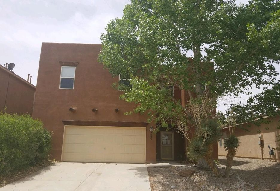 This Southwestern style home features a large floorplan with 2-living areas, 5 bedrooms, 2.75 bathrooms, refrigerated a/c and an attached 2 car garage. Home is located in the highly desirable Cabezon subdivision and is conveniently located close to parks, schools and local business.