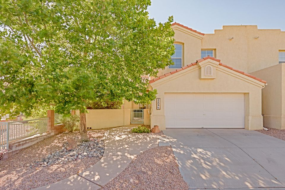 Welcome to Renaissance Townhome Community, where easy living awaits! Gated community, centrally located in RR, near shopping, Rust hospital and Aquatic center.  Delightful 3bd/2 1/2 bath home is ready for new owner. New MasterCool installed in 2017.  Neutral color scheme and built in shelving/stoarage in Living room and loft.  Window seat in loft, built in speakers in all bedrooms & Living Room.  Gas log Fireplace and clerestory windows in LR. Great architectural detail. Oversized 2 car garage.  All appliances convey, as-is condition. No neighbors to the south, just open space. Gorgeous front courtyard with bench and mature trees.  Come visit and see for yourself!  This is a winner!