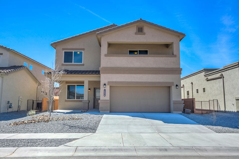 This newly completed 2 story with 4 bedrooms, 2.5 baths, 2 car garage. All bedrooms on second level with laundry room and loft. Balcony off Master bedroom. Breakfast nook and separate dining area with ceramic tile. Granite kitchen countertops and island. Study area next to entry.