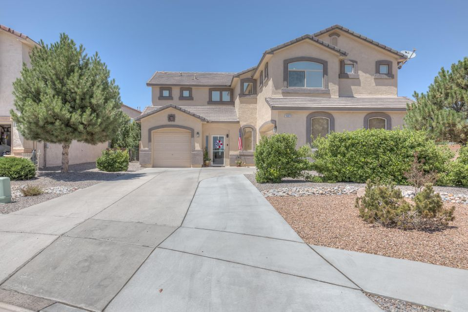 Beautiful home with great views in Astante at Cabezon! Don't miss this 4 bedroom, 2 1/2 bath, 3 living areas, plus a wonderful backyard with a pool & covered patio! Recently remodeled kitchen (granite counter tops) & flooring (2016), newer water heater (2017). Enjoy the gorgeous views from the balcony off of the loft & the huge master suite with 2 large walk-in closets. Refrigerated air (2 units), extra-large driveway, 3 car garage (2 & 1), and poly ceramic tint on the windows. Plus the large, stainless steel BBQ grill stays!!!!!!!!! Front porch enclosed. Light over pool table does not convey. Close to schools, shopping, restaurants & parks!