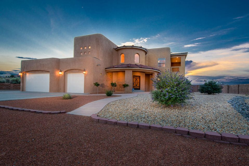 This Custom spacious home has soaring beamed ceilings, light-filled rooms & sits on .5 acre. Resort style backyard features HUGE Cabana with Fireplace that overlooks in-ground Saltwater pool, Hot Tub, putting green, horseshoe area. RV Pad. This DREAM HOME offers Elegance & Luxury, AC, spacious, functional & open floor-plan. Gleaming woodfloors 4 BDRMS(3 BDRMS have their OWN PRIVATE BATHS!) Stunning Gourmet kitchen includes high-end cabinets, exquisite granite counters & Island, professional grade stainless steel appliances-Chefs delight! Opens to Formal dinning rm. Private Master Suite; complete w/separated dual sinks, jetted tub, snail shower, elegant vanities & HUGE walkin closet. 2 custom fireplaces to name a few. Oversized 3 car garage.
