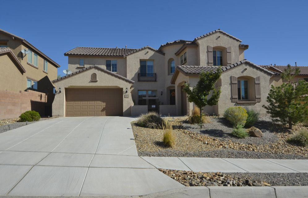 This home offers over 4200 sqft of optimal living. So many amazing updates!! With soaring ceilings, grand entry way w/dramatic curved iron spindled staircase. Main level showcases living rm, formal dining rm, family room w/cozy fireplace, Gourmet kitchen + OFC, Private bdrm & 1 and half baths. Chef's kitchen features granite countertops, hi-end s/s appliances, espresso cabinets, island, 2 LG pantries. Upstairs greets you with spacious loft. Oversized Master Suite delivers a viewing deck complimented by elegant bath complete w/garden tub, separate shower, dual vanities & his/her walk-in closets; PLUS 4 more bedrooms & 2 more baths. 4 car garage! The backyard is absolutely gorgeous!! Don't miss this Hi-End upgraded home.