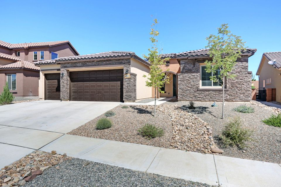 This Absolutely Move In Ready Ranch style Beauty in  Tres Colinas gated community will delight your most Discerning buyers!The Open Floor Plan with 10' ceilings fill the home with natural light. The Custom Kitchen with Granite counters and  an oval Island shows off the upgraded cabinets and professional kitchen design. A covered Patio opens to a very private backyard just waiting for your buyers Ideas.  Add the 3 car oversized garage and you have it all!