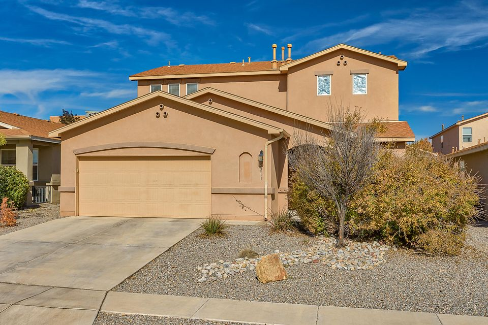 4 Bedrooms with 2 Living Areas in Cabezon area!  Master Suite with Garden Tub and Separate Shower. Great Room with CozyGas Log Fireplace, Kitchen, overlooking the Great Room, with upgraded Cabinets, Granite Counter Tops, Tile Floor and Tile Backsplash,  and Dining Area.  Upstairs features 3 Bedroomsplus a Loft.  Fully Landscaped and Gas Grill.  Close to Park and Community Pool!