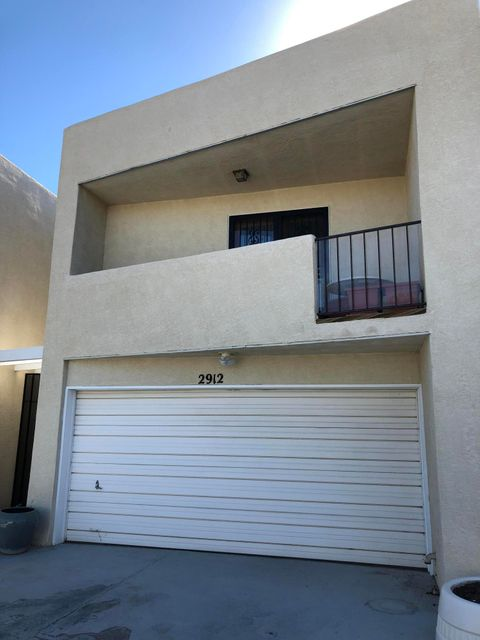 Spacious and private townhouse close to UNM, Medical School and Law School.  Large living area downstairs with fireplace and cozy sunroom. Upstairs the large master also has a fireplace, and an office with lots of natural light. New carpet, paint, appliances, water heater and roof!