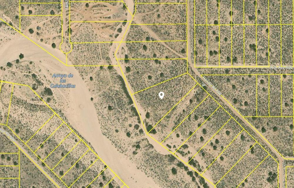 Spacious Rio Rancho lot near recent development. 1.78 acres backs to Arroyo de las Calabacillas so no rear neighbors. Just minutes off the main road!