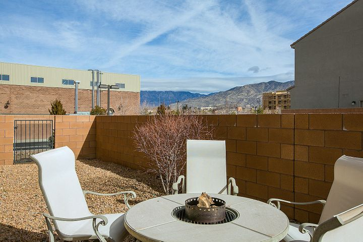 Enjoy Side Yard w Patio Door Access and Sandia Mountain Views