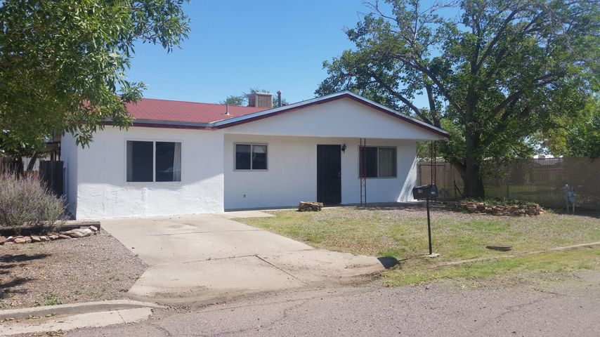 This cute 3 bedroom 1 3/4 bath home is at the end of a quiet, dead end, street.  Walking distance to  New Mexico Mining and Technology campus. Great starter home or investment property for student rental. Home features 3 large bedrooms, 2 baths and living and family rooms.  Large eat in Kitchen, with plenty of cabinets for storage.  Family room has chimney and fire wall for wood or pellet stove. Fenced back yard with storage shed and dog run. This home was previously rented for $840 per month.
