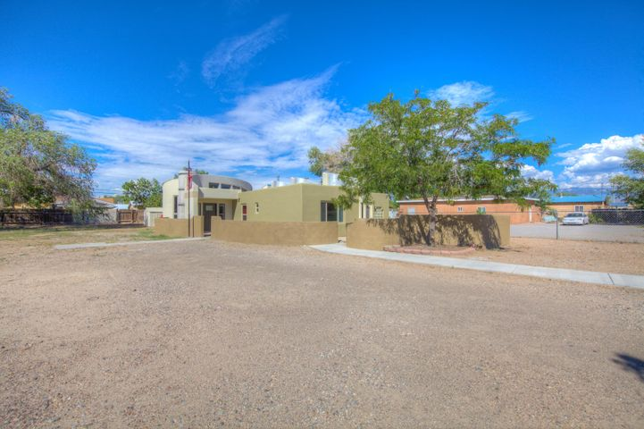 Enjoy this just over 1600 SQ Ft Adobe home  in desirable north valley location. Seller has made some great updates including new stucco. Enjoy an open floor plan with a contemporary edge. Lots of natural light both baths are all remodeled. secondary bedrooms are spacious. Lots of natural light.endless possibilities. Sale includes both lots.