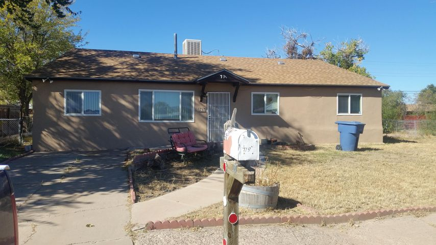 3 Bedroom home on large corner lot. Home features large living room and spacious kitchen with lots of cabinets.  3 bedroom and 1 1/2 bath.  Large, fenced backyard includes storage shed.