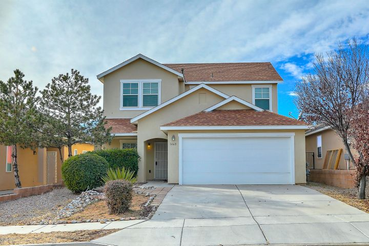 Beautiful 2 story home in Cabezon!  This well maintained home has the following features:**Two Open Living Areas Downstairs**High Ceilings**Island in Kitchen**Brand New Stainless Steel Appliances in Kitchen**Washer/Dryer Included in Sale**Fresh Paint Throughout**Brand New 2 Inch Cordless Blinds Installed Throughout**Double Vanities in Both Upstairs Bathrooms**Separate Jetted Tub and Shower in Master Bedroom**Large Master Bedroom**Good Sized Secondary Bedrooms**Private Backyard**Located in Cabezon, a Master Planned Community with Walking Trails, Parks, and a Public Swimming Pool**Close to Shopping, Schools, and Restaurants!!