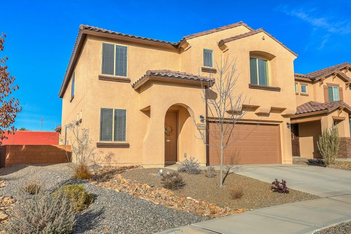 Almost new home built in 2017.  Beautiful two-story home with master downstairs features an open concept floorplan with a kitchen that flows into a cafe area & large great room with 18 ft cathedral ceilings and four panel sliding glass door opening to the beautiful backyard.  The kitchen showcases tall cabinets, stainless steel appliances, granite counters, & a large island.  Upstairs you'll find 3 very large bedrooms plus a loft.  Natural light washes over this stunning home.  Large backyard with covered patio and extra room on the side.   Perfect for entertaining.   Conveniently located near parks, schools, shopping & dining.  Don't miss out on this amazing deal!  It's the perfect place to hang your heart!   Popular Firwood home design by Pulte Homes.