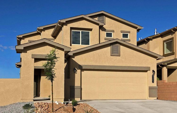 This Brand-New 'Coronado' Express Home by D.R. Horton near the Volcano Vista High School in The Trails, This Spacious, Bright 2-Story with 3 Bedrooms and 2.5 Baths Will Please the Whole Family. Includes a Large Kitchen with Granite Counters and Bar Top, The Master Suite Upstairs Gives You a Huge Tiled Shower, Double Sinks and a Roomy Master Closet, Upgraded Ceramic Tile Flooring in All Wet Areas with Broken-Joint Set adds Elegance, The 2X6 Exterior Construction and Extra Wall and Ceiling Insulation Provide Outstanding Comfort and Energy-Savings, 2 Furnaces and 2 Refrigerated Air Conditioners with Dual Zone Controls Allow Separate Temps Up and Down, The Delightful Front Courtyard Can Be Gated for Extra Privacy, Move-In-Ready, Must See Today!