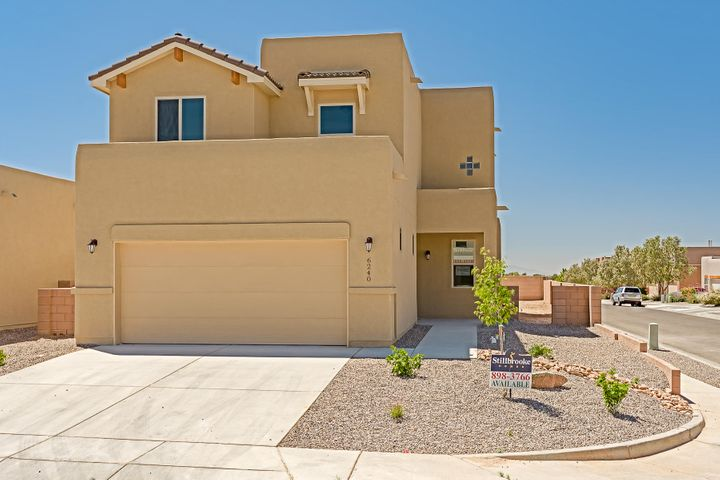 Welcome Home to this Gorgeous Newly Built Stillbrooke Home. This home offers 4 bedrooms,  2.5 baths,2 car garage on a nice corner lot. The fabulous kitchen has Castle Style Cabinets, Quartz countertops and Your Choice of appliances. The beautiful corner Stone Fireplace that captures the living room. The oversized en suite has a large walk in closet with a large roll in shower, double sinks and a balcony off the en suite to watch the beautiful New Mexico sunsets. This home offers lots of upgrades to include a 2-10 Builder Warranty. It won't last long.