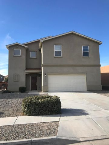 Great opportunity to own in Cabezon!  Beautiful 5 bed 3 bath home.  Vigas in the living area.  One bed and 3/4 bath downstairs.  4 more bedrooms and 2 full baths upstairs.