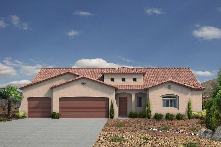 The Coveted Tiffany Design by Abrazo Homes features an in-law addition with living room and bath.  This 3 bed home is a 3 bath and 3 car with large living area and flex/game room.  This home includes a new home warranty and smart home technology package.