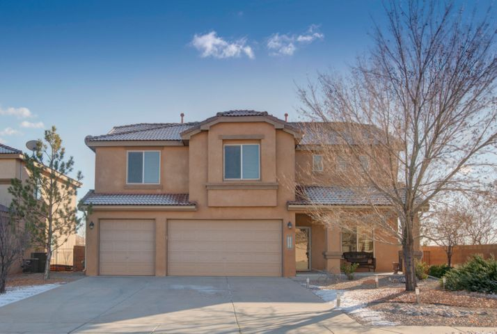 Pride of ownership shows throughout this beautiful 3200 Sq. ft. 2 story Pulte home that shows like a model. It is located in the private gated community of Corazon at Cabezon.It features  4 Bedrooms ,3 Baths, 2 lLiving areas ,3 car garage ,A HUGE upstairs loft, Great for family gatherings. Also Recently installed custom  wood flooring in the formal dining and Living areas ,and a custom tile backsplash in the kitchen area. This home has a beautiful open floorpan. In addition  there is plenty of storage space.