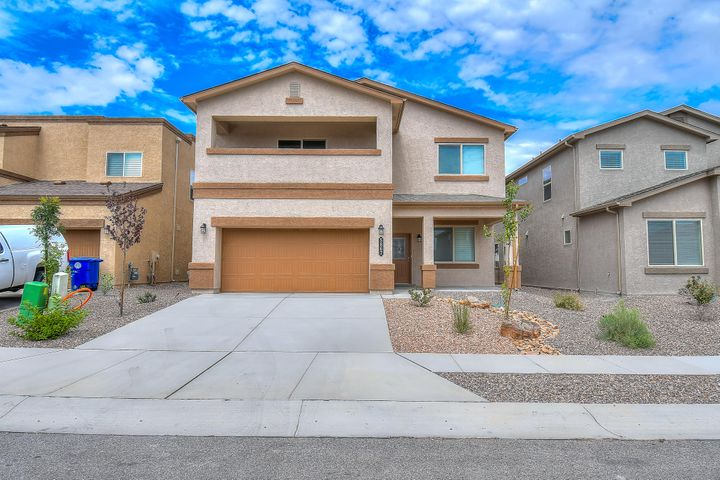 Looking for a brand new home without the brand new price tag?  This home has a beautiful and open floorplan with gorgeous wood plank tile throughout most of the first floor and bathrooms upstairs. Amazing kitchen with huge island, glass tile backsplash, and large pantry. Formal dining and study downstairs as well. Oversized two-car garage. Master suite is a homeowners dream with a closet that could be a fifth bedroom. Balcony off master with partial mountain view. Large loft upstairs for extra family entertainment. Efficient tankless water heater provides hot water throughout the day. Separate thermostats for upstairs and down providing the convenience to keep the home at a comfortable temperature throughout! Must see in Cibola school district.