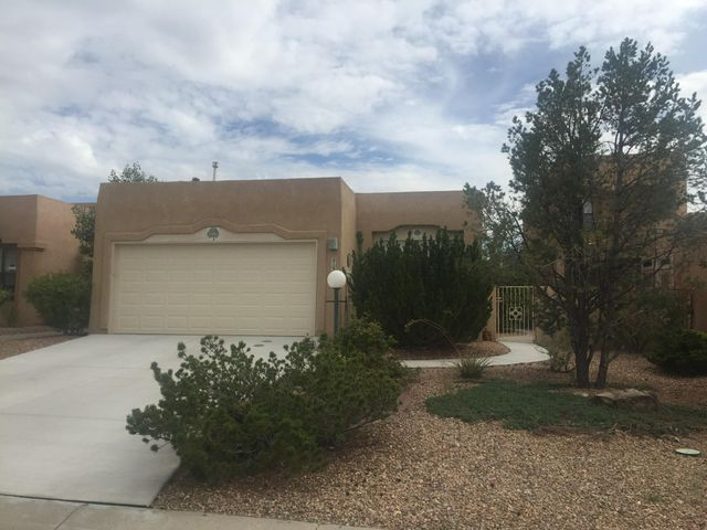 This lovely patio home features 3 bedrooms, 2 baths and 2 car garage.  The interior is light and bright featuring an open floorplan with high ceilings and clearstory windows. The Living area features a fireplace, dining area and wet bar.  A private backyard with a block wall, covered patio and easy maintenance. The master suite features a full bath, walkin closet and is separated from the other 2 bedrooms.  The kitchen is fully loaded featuring an island, breakfast bar, and pantry. Full Home and Termite  Inspections have been completed. The house will be holding an estate sale Saturday, January 12, 2019.
