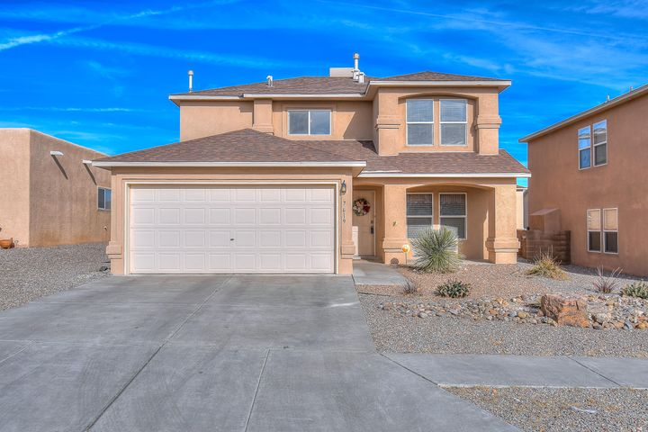 Welcome to this lovely home in Ventana Ranch, just across the street from one of the many beautiful parks in the community.  This home features a large open kitchen with upgraded counters, sink, and faucet.  There are 2 eating areas including a breakfast nook and formal dining space.  Relax in the spacious great room, where there's plenty of space for everyone.  Master suite is oversized, and the master bath features a separate shower as well as a jetted garden tub, and a nice walk-in closet.  Enjoy the spacious backyard with low maintenance landscaping. Other improvements include new stucco, new water heater, newer swamp cooler, and new disposal.  Come see this great move in ready home today.