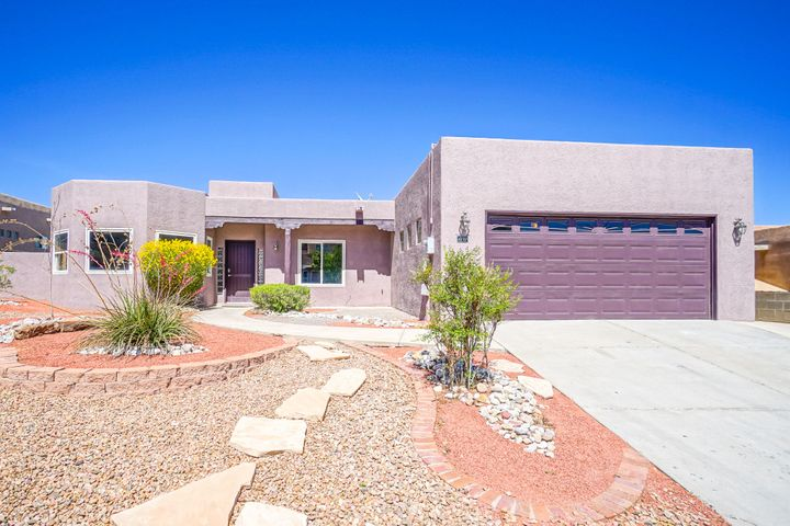 Remodeled home in the Knolls of Paradise! This single story property has 4 bedrooms 2 baths. New tile flooring, new water heater, new lighting fixtures, fresh paint, stainless steel appliances and granite counter tops. High end refrigerated air system will keep you cool all summer. Backyard features an open patio with kiva fireplace, perfect for entertaining. Views of the Sandia Mountains throughout the property. Call a Realtor today to schedule a private showing.