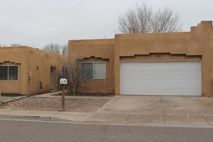 This light and bright Home feels large and spacious.  Living room has gorgeous Kiva fireplace.  Kitchen has lots of counter and pantry space.  Close to I-25 and Rail Runner, Schools, and Shopping.