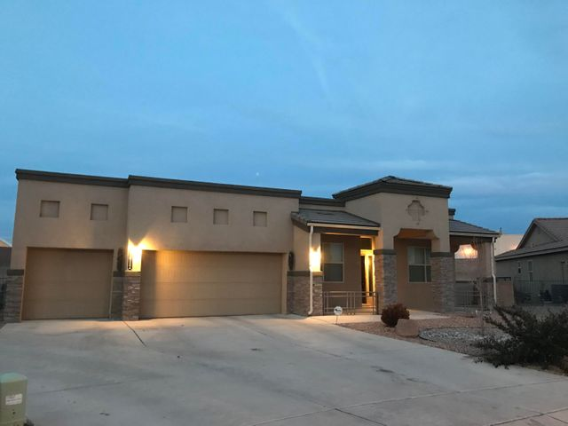 Beautiful, well-maintained home in desired Cabezon community. LARGE, premium  lot close to great schools, parks, and pools. This 4 bedroom home has a nice open floor plan, a large open dream kitchen, 2 baths, granite countertops, oversized 3 car garage. Custom upgraded sliding doors leading to your covered porch where you can bring your imagination and ideas to create an amazing back yard. Make this one of a kind home in this great neighborhood your next home!