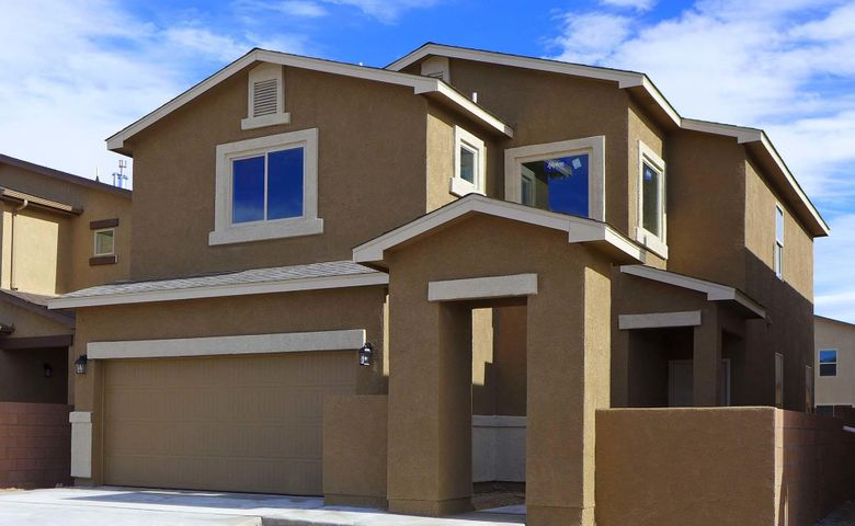 Brand-New 'Reveille' Plan by D.R. Horton near Volcano Vista High School in The Trails NW, This Spacious, Bright 2-Story with 3 Bedrooms, a Loft and 2.5 Baths With a Deep Lot Will Please the Whole Family, Includes a Large Kitchen With Granite Counters and Bar Top, The Master Suite Upstairs Gives You a Huge Tiled Shower, Double Sinks and a Roomy Master Closet, Upgraded Ceramic Tile Flooring in All Wet Areas with Broken-Joint Set adds Elegance. The 2X6 Exterior Construction and Extra Wall and Ceiling Insulation Provide Outstanding Comfort and Energy-Savings, 2 Furnaces and 2 Refrigerated Air Conditioners with Dual Zone Controls Allow Separate Temps Up and Down, The Delightful Front Courtyard Can Be Gated for Extra Privacy, Must See Today!