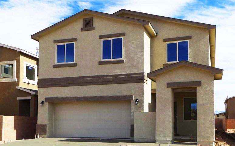 This Brand-New, Move-In-Ready 'Voyager' Express Home by D.R. Horton Will Charm You With Its Bright 2-Story Living with 4 Bedrooms, 2.5 Baths, a Huge Loft, a Chef's Kitchen with Bar-Top Island and Granite Counters, The Kitchen and Dining are Open to the Huge Living Room. The Master Suite Upstairs Provides a Spacious Tiled Shower, Double Sinks and a Roomy Master Closet, The Upgraded Ceramic Tile Flooring in the Wet Areas Sports Broken-Joint Set for Elegance, The 2X6 Exterior Construction and Extra Insulation for Energy-Savings. Refrigerated Air! Front Courtyard Can Be Gated for Privacy.  Must See Today!