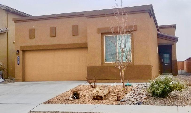 OPEN HOUSE - Sun. 1 -3pm, Feb 3rdLook no further! The home looks new! The Pride of DR Horton Sandoval model (2017)! This 4-bedroom home comes with kitchen and bathroom upgrades. Relax or entertain your family and friends in the covered backyard porch and enjoy the great views! Location is sought-after! Close to city schools, university,  parks, stores, offices, and restaurants. Easy access to Paseo Del Norte & freeway. This home has warranties that are still in place & transferable. Come and See it !