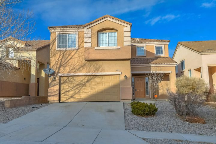 Spacious home located in Santa Fe at The Trails with spectacular views and a phenomenal layout. Featuring two master bedrooms - one upstairs with a private balcony, and another downstairs. Downstairs living area as well as a capacious upstairs loft,  kitchen with island opening up into the dining area & living room, Master Ensuite with dual vanity, walk in shower and separate tub, large walk in closet and water closet.