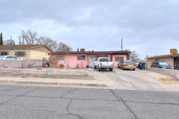 Great starter home nestled in the SW of Albuquerque. Home in need of a little TLC but with tons of potential. Great size back yard perfect for those family get togethers. Home features 3 nice sized bedrooms and a second living area/den. Come check out what this property has to offer for the price.