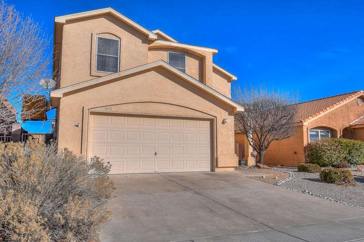 You will feel warm & welcome in this much sought after but rarely available TIFFANY home located in the beautiful & quaint Rinconada Mesa community. Located beneath the Petroglyphs not too far from freeway access, entertainment, dining & top rated schools. This versatile floor plan is endowed w/.....Gorgeous & spacious kitchen, all GRANITE counters, large Island, Buffet & desk area, upgraded cabinets w/ hardware. All appliances convey, pantry, wood like-TILE flooring throughout, large formal Dining or 2nd living space, GREAT room, nook, Lg. backyard, open & Covered Patio & deck area, extended concrete, MOUNTAIN VIEWS from balcony, newer carpet, HUGE Master suite closet, faux wood blinds, rod iron security door, DBL. sinks, updated fixtures,  attic space, PELLA windows! Call TODAY