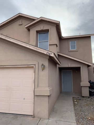 Great starter home located in the SW of Albuquerque. Home features great open floor plan on the first floor. Great updated kitchen with plenty of storage. Tile throughout home. 3 well sized bedrooms with walk in closets. Great size backyard making it perfect for family get togethers. Come check this one out before its gone.