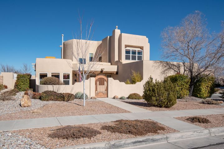Stunning! CUSTOM home on large CORNER lot with huge 3 car garage  AND AMAZING VIEWS! Truly this home has it ALL! Enter through private courtyard with water feature adding to the serenity and beauty. Step into foyer and enjoy cathedral ceilings*southwest accents*GOURMET KITCHEN with GRANITE island, stainless appliances, pantry and loads of cabinets*3 bedrooms on 1st fl and your exquisite owner suite on 2nd floor with fireplace, luxurious bath and extra large deck sporting endless unobstructed views! New IB ROOF with LIFETIME warranty added in 2016*Stucco re-coated 10/18 with elastomeric* Beautiful LARGE private BACKYARD with stucco wall surround features stone fountain, fire pit, electric LANDSCAPE LIGHTING, flagstone patios + BACKYARD ACCESS with concrete pad for any toys.  A must see!! 10