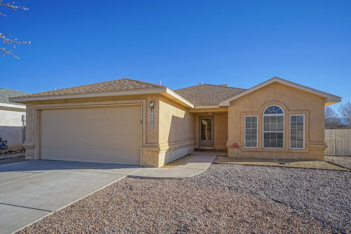 Welcome to this fabulous single story home that is ready to move into!  Open floor plan with vaulted ceilings throughout. Great room has a gas log fireplace with tile surrounds & hearth,, ceiling fan and plant ledges. The spacious kitchen has a breakfast bar, lots of oak cabinetry & counter space, pantry, gas stove & refrigerator. Master bath has built ins, walk in closet, double sinks, garden tub/shower with tile surrounds. Ceiling fans are in all the bedrooms, 2 tone paint throughout with some accent walls. Step out back and you have a covered patio & and open patio area. There is backyard access too.  The refrigerator conveys in ''as is '' condition.