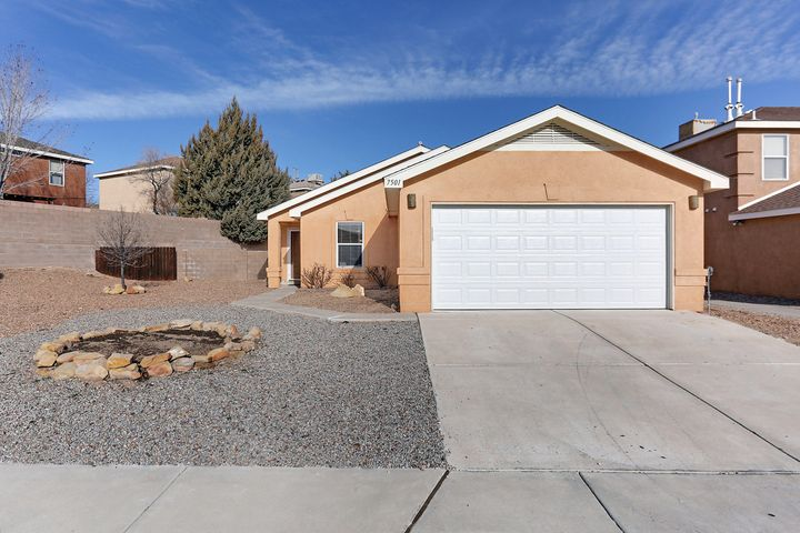 Welcome home to the Ventana Ranch community!  There is one way in and out of the neighborhood by road access. Great curb appeal on this .2 acre extra-large lot with back yard access. Walk-in to find professionally cleaned carpet and tiles.  Newly painted! New water heater installed! New vanity installed in the master bath.  Fans in all 3 bedrooms and the living room. Separate Office space or bonus room.  All appliances convey including the washer/dryer. Roof maintenance done October 23rd. Wired for alarm service. Across the street and at the end of the block is a walking trail that leads to the pool, tennis courts or the different parks in either direction.  Open House on Friday the 8th from 1-3 PM and Saturday, February 9th from 2-4 PM!  Full Home Inspection completed!  Must see today!