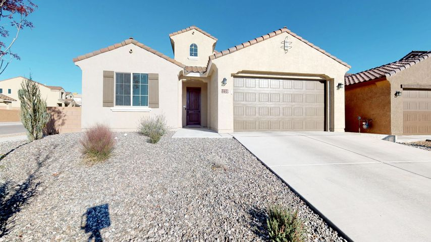 Situated on a corner lot this beautiful custom green built Pulte home, located in the Cabezon community, is less than 2 years old! Offering an abundance of space due to its AMAZING floor plan and lots of natural light, this home features 5 bedrooms, 3 full baths, 3 car garage and 3 living areas! The open kitchen is perfect for family dining and entertaining w/ easy access & viewing into living room and dining area. The kitchen, features a large center island that offers additional seating, granite countertops, custom back splash, SS appliances, ample cabinet space and walk-in pantry.  Master bedroom on main floor features a spacious walk-in closet w/ built in shelving and en suite bathroom w/ granite counter tops, his and her sinks, and large walk-in shower w/banco. Additionally,downstairs