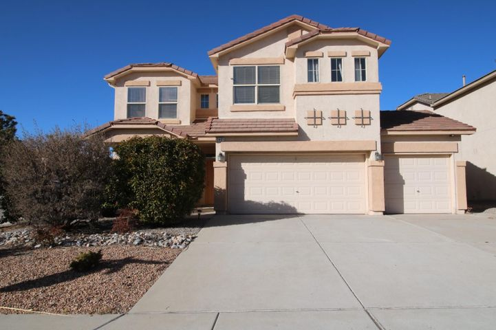 Roomy home on a corner lot in the desirable Cabezon neighborhood.  Home includes 4 bedrooms, 2.5 baths, a three car garage, swimming pool, landscaped backyard, and three livings areas including an upstairs loft.  Spacious master bedroom and upstairs balcony are additional extra features s of this home. ***Handyperson for cosmetic needs within home including drywall, paint refresh, staircase finishing, and other finishing touches from unfinished work.  Home to be sold in the current condition.