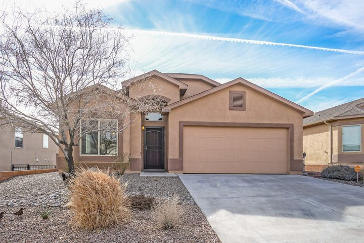 This Beautiful, well maintained one-story, 4 bedroom, 2 full bath, 2 living area home  in  Cabezon, features gas fireplace, island in the kitchen,  vaulted ceiling,  master bath with garden tub separate stand up shower and walk in closet.   Sliding glass door leads to covered patio and low maintenance backyard.  No HOA! Come see today!