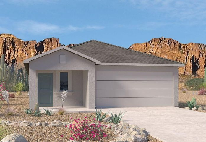 This Brand-Sparkling-New Designer 'Diana' Home by D.R. Horton Express Is Simply Amazing! It Will Feel Like It Was Made Just For You. Release Your Inner Chef With The Spacious Granite Countertop Kitchen with Appliances Included (Refrigerator Optional), All Open to the Dining and Living Room, The Inviting Owner's Suite and Spa-Like Master Bath With Oversized Tarrazzo Tiled Master Shower and Wood Closet Shelving Will Delight You. The Oversized Walled and Gated Backyard w/Covered Rear Patio is Awesome! Great-Energy-Savings, w/Refrigerated Air Conditioning, 2x6 Construction, Image is Artist Rendering, Est June-July Closing.
