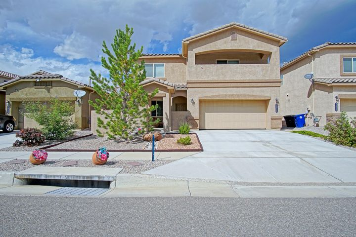 This 4/5 bed,3 bath,5 years young home is in close proximity to schools & ready for a new owner.Great location nestled in the heart of Ventana Ranch.Home offers nice floorplan w/office or spare w/french doors, separate dining & breakfast nook w/ample cabinet & pantry space-plus under stairs storage.1/2 bath down for guests w/linen closet.Dark wood rollout cabinets & lazy susan, stainless appliances in kitchen, tankless water heater & filtration.Upstairs has large loft & laundry for added convenience.Huge walkin closet in master plus covered balcony.Beautiful low maintenance back yard w/mountain view,pergola,turf grass,Trex deck w/ stamped concrete sidewalk.Nothing to do but move in and enjoy.Come & see this great Trails property today! $2000 buyer broker bonus with acceptable offer!