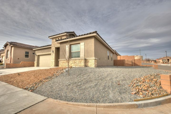 Open House 02/23/19 From 12:00PM-3:00PMBrand New Hakes Brothers home located in the Lomas Encantadas neighborhood! Home features 1920 sf with 3 bedrooms, 2.5 bathrooms and office! Beautiful wood like tile throughout the main living areas. Spacious great room, fireplace. Open kitchen with upgraded cabinetry, granite countertops, subway tile backsplash, gas cooktop, built-in wall oven/microwave,  stainless steel refrigerator, washer/dryer (Whirlpool) and Garage Door opener, center island with seating space, pantry and dining area. Gorgeous master suit. dual sinks and a huge walk-in closet.
