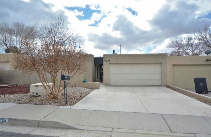 Excellent location!  2BDR/2BA/plus office townhome in Los Trechos!  Many updates!  REFRIGERATED AIR!  Updated furnace, water heater and ROOF!   Updated stucco (2013)   Two large bedrooms plus a beautiful built-in office addition with cabinets & desk.  Light & bright atrium for plants!  Bath features a therapy tub!  Kitchen has bkfst nook and all appliances stay!  Private patio can be accessed from the master bedroom and living room.  Convenient location close to shopping, restaurants, parks and transportation!