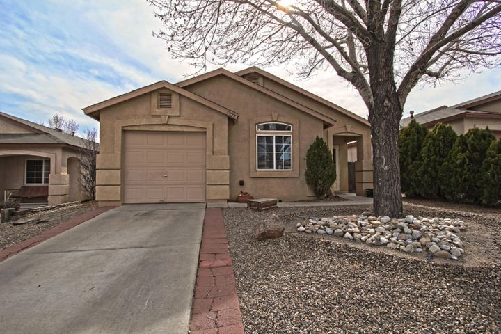 This adorable 2 bedroom, 2 bathroom home is MOVE IN READY.  If you are looking for a quiet with little traffic neighborhood, this home is for you! Freshly painted with a bright open floor plan, high ceilings, open kitchen with dining area, large master bedroom, and upgraded vanity in master bathroom. Beautifully landscaped private backyard with plenty of room for entertaining underneath the PERGOLA PATIO.  Shed for extra storage. Make this home yours by bringing us an offer today!!!