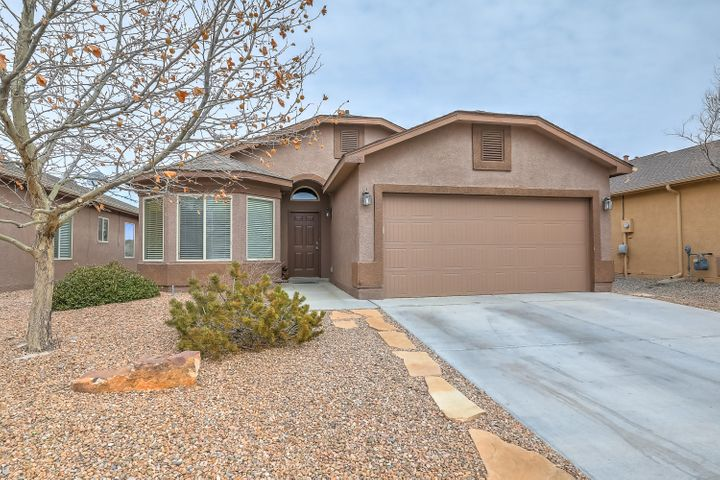 Beautiful DR Horton home In the Trails Community. This home features an open floor plan with vaulted ceilings. You'll love the modern style kitchen with dark cabinets, stainless steel appliances, and lots of storage. Spacious family room, and open dining area help make this home perfect for those who like to entertain. Master suite is separate from the other bedrooms for added privacy, and features A LARGE walk-in closet. Numerous walking trails for the outdoor enthusiast.  A must see! New Flooring in main area in the next two weeks.TV on wall in living room does not remain with the property.