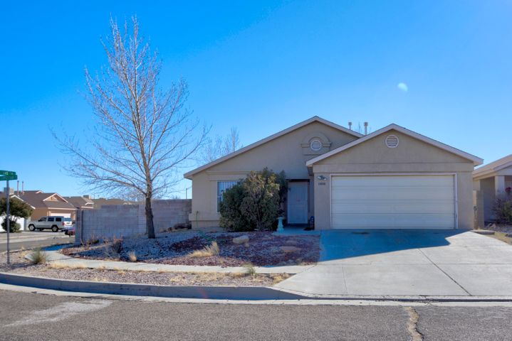 Great starter home that has a lot to offer. Located in the SW of Albuquerque this home is located on a corner lot with backyard access. Home features good size living room and tile throughout home aside from the bedrooms. Property in need of a little TLC but has tons of potential.